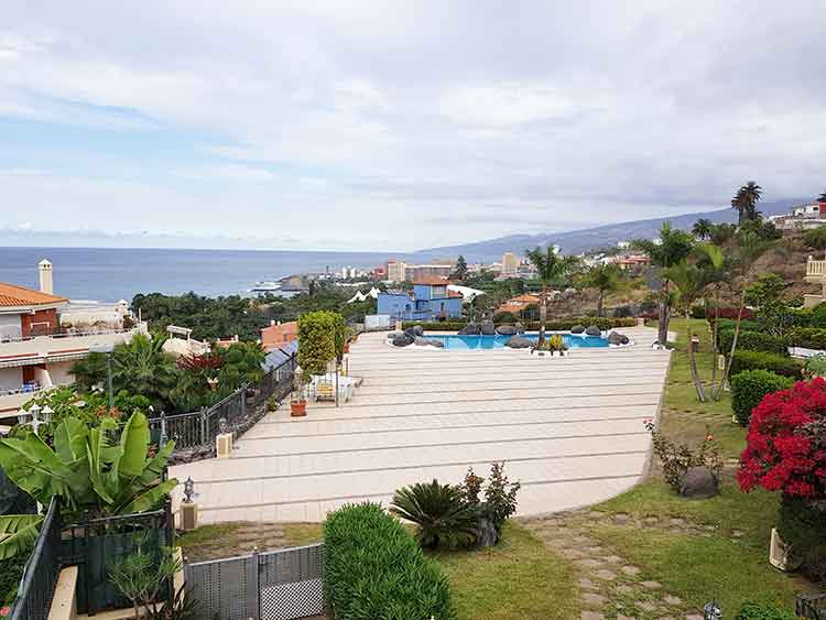 Immobilien Teneriffa,  Schlafzimmerapartment mit Pool und Garage in Puerto de la Cruz