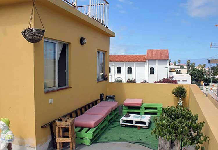 Ein typisches kanarisches Haus in Puerto de la Cruz- Teneriffa