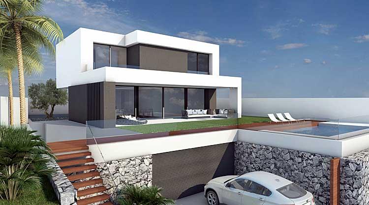 Exklusive Neubauprojekt ,bietet auf zwei Wohnebenen mit Blick auf den Atlantik.