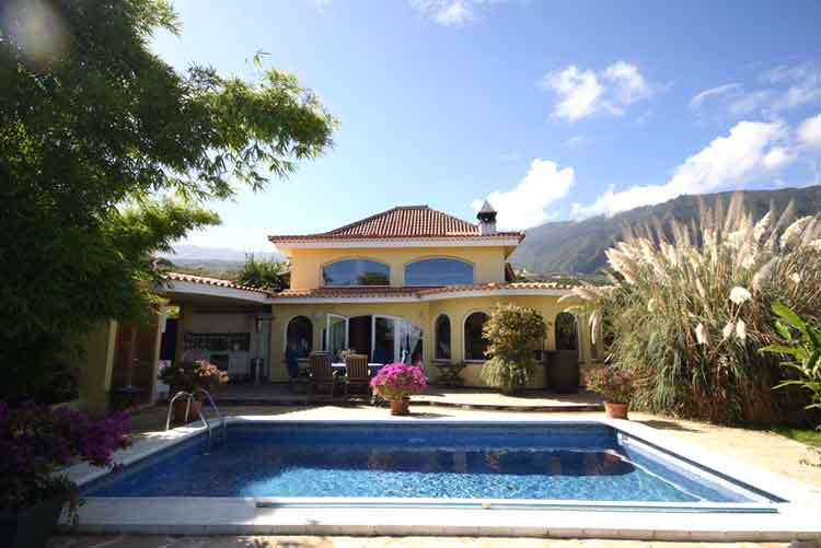 Immobilien Teneriffa,Luxus-Chalet mit unverbaubarem Panoramablick in Los Realejos