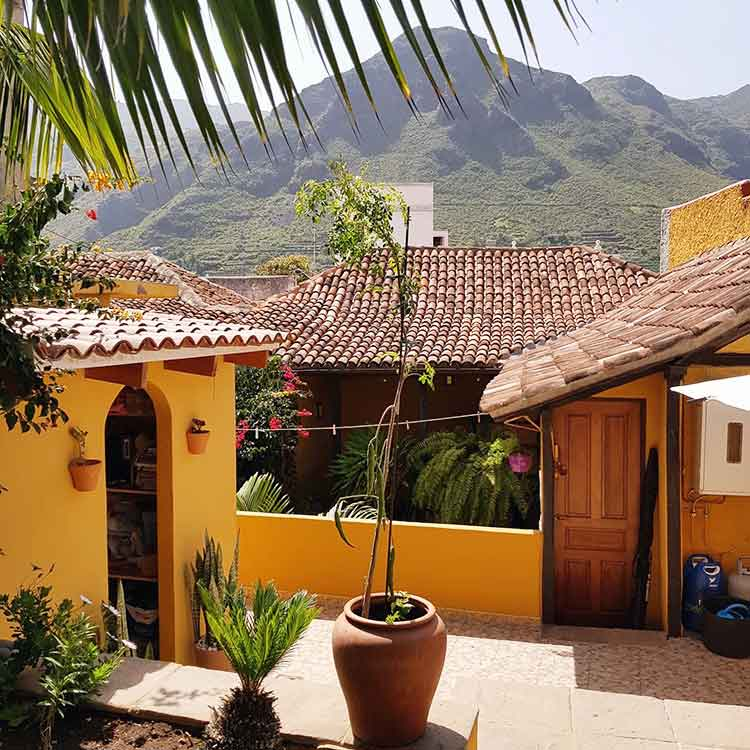 "A hostal ""you will love it"". In the town of Los Silos on the northwest coast of Tenerife"
