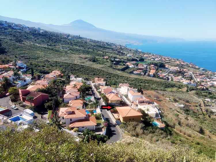 Baugrundstück mit Meerblick in La Baranda El Sauzal